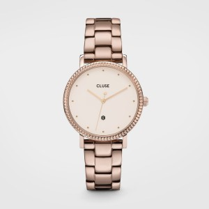 Montre Cluse - Le Couronnement 3-Link Rose Gold white - CW0101209009
