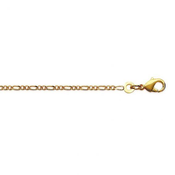 Chaine Figaro 1-2 doré