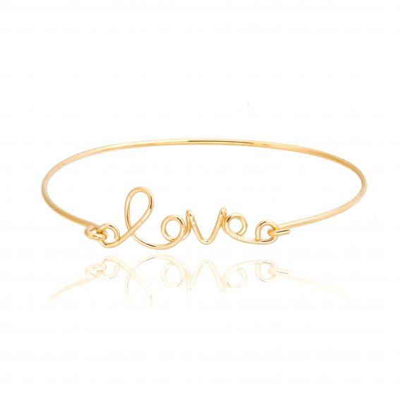 Bracelet 7bis Love script doré - Bracelet de la marque 7bis