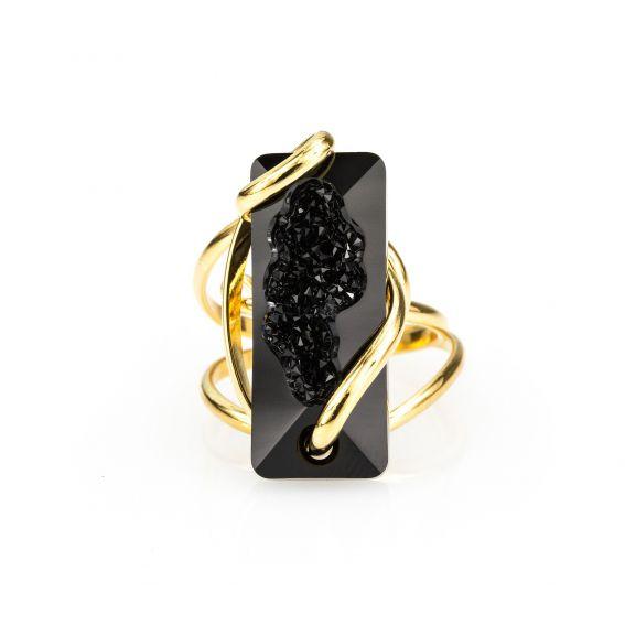 Swarovski crystal rose ring