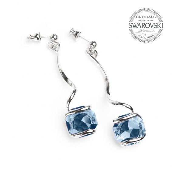 Boucles d'oreille Andrea Marazzini - Cristal Swarovski bleu DENIM