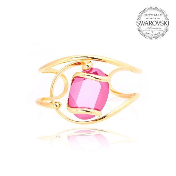 Andrea Marazzini bijoux - Bracelet Bracelet ovale doré - Swarovski