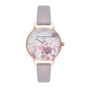 Montre or rose Marble Florals
