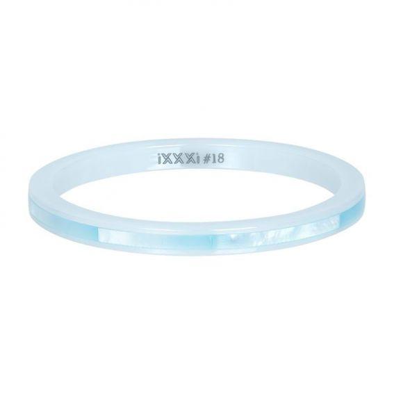 Anneau céramique shell bleu iXXXi - Bague marque iXXXi