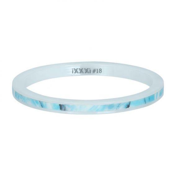 Anneau céramique shell bleu paradise iXXXi - Bague marque iXXXi