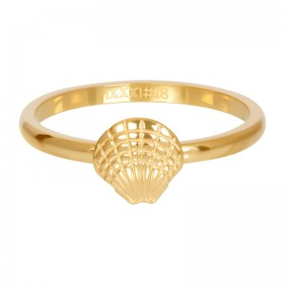 Anneau symbole coquillage de mer doré R3508-01 - Bijoux de marque iXXXi