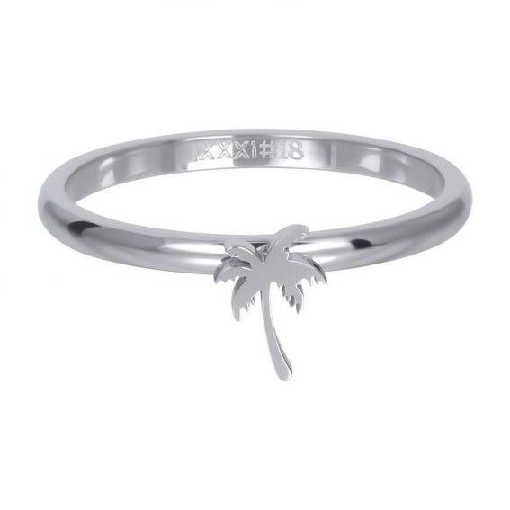 Anneau symbole palmier argenté - R3509-03 - Bijoux de marque iXXXi