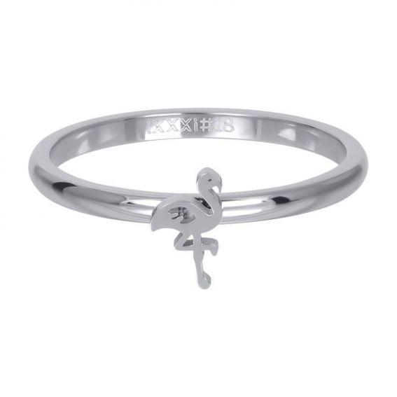 Anneau symbole flamand rose argent - R3510-03 - Bijoux de marque iXXXi