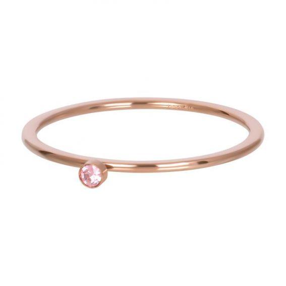 Solitaire rosé 1mm pierre rose - Bijoux & bague de la marque iXXXi