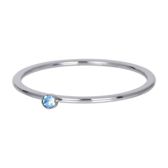 Solitaire argenté 1mm pierre bleu - Bijoux & bague de la marque iXXXi