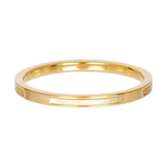 Anneau couvrant bonaire doré - Bijoux & bague de la marque iXXXi