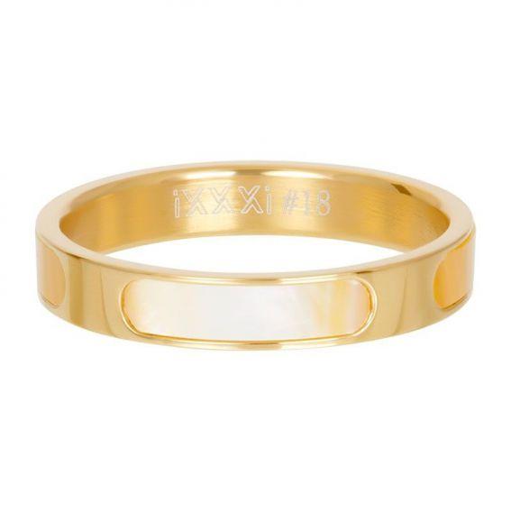 Anneau couvrant Aruba doré - Bijoux & bague de la marque iXXXi