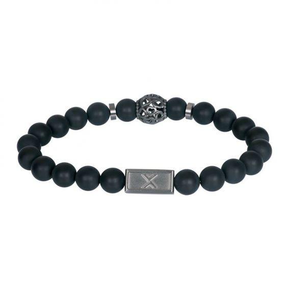 Bracelet iXXXi en cuir pour homme Quin noir - Marque iXXXi