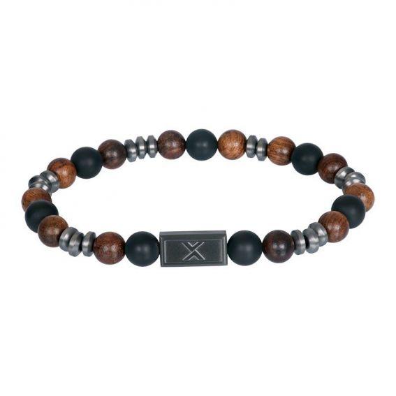 Bracelet iXXXi en cuir pour homme Kenji noir - Marque iXXXi