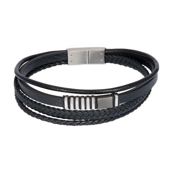 Bracelet iXXXi en cuir pour homme M00520-04 noir - Marque iXXXi