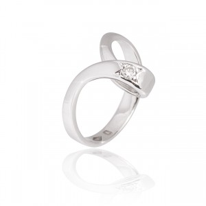 Solitaire white gold diamond 18k +