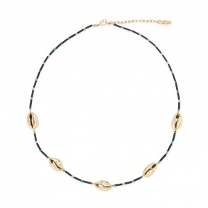 Shadé necklace gold
