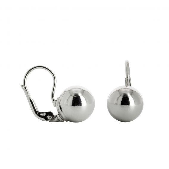 Dormeuses rondes argentées - Bijoux et boucles d'oreilles en argent