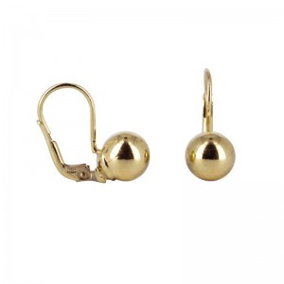 Dormeuses rondes dorées - Bijoux et boucles d'oreilles en argent