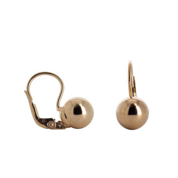 Earrings domed pellets
