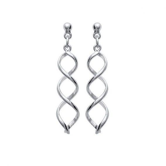 Perceuses spirales - Bijoux en argent - Boucles d'oreilles femme