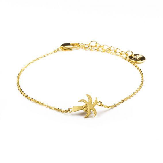 Bracelet 7bis palmier doré