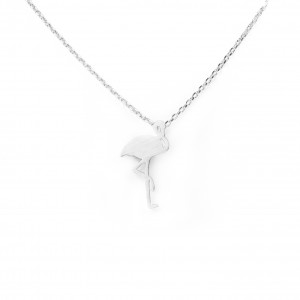 Collier 7bis flamand rose argenté