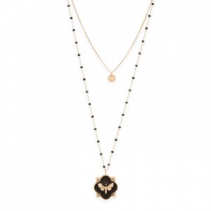 Tamouré black necklace