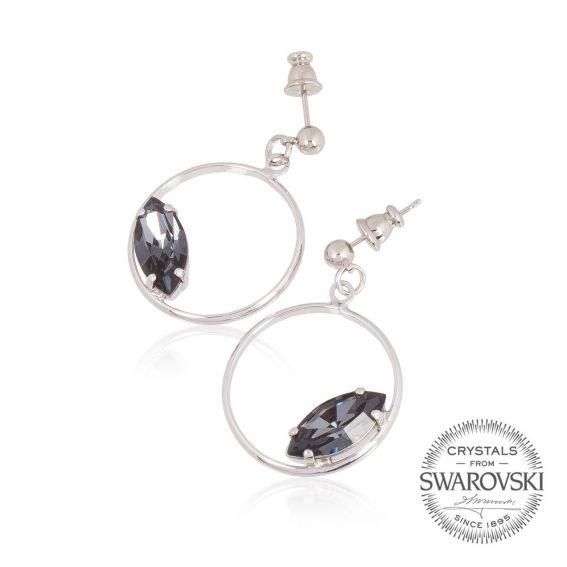 DENIM blue Swarovski crystal earrings