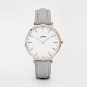 Watch CLUSE - The bohemian pink gold white / pink