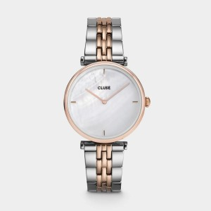 CLUSE Watch - Triomphe Rose Gold Soft Taupe