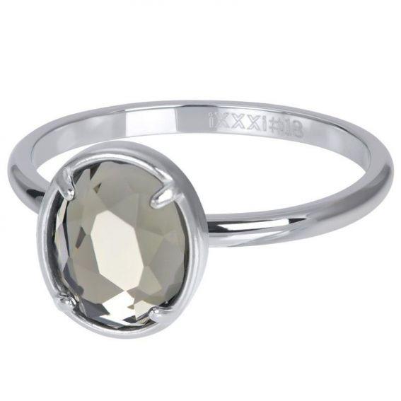 Silver rectangular shell stone