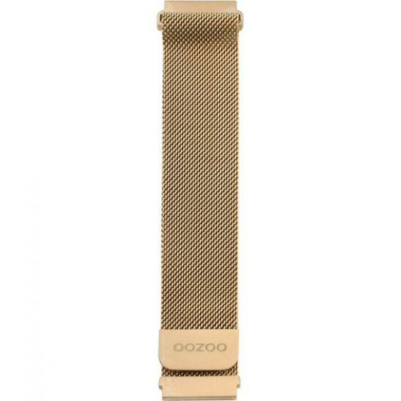 OOZOO connected watch bracelet silver mesh