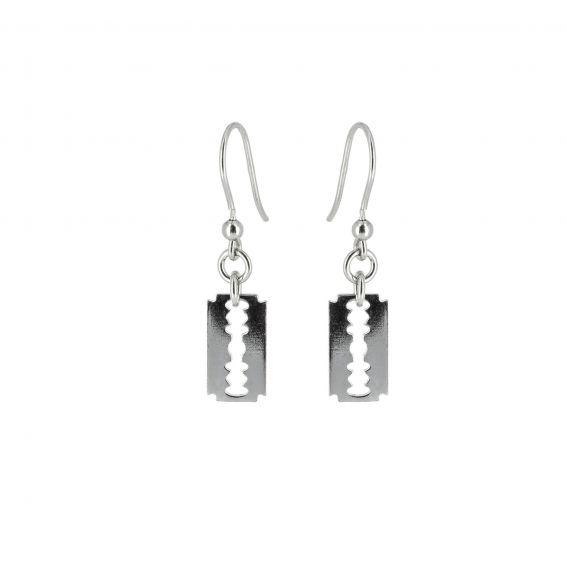Bijou en argent - Silver hooks razor blade