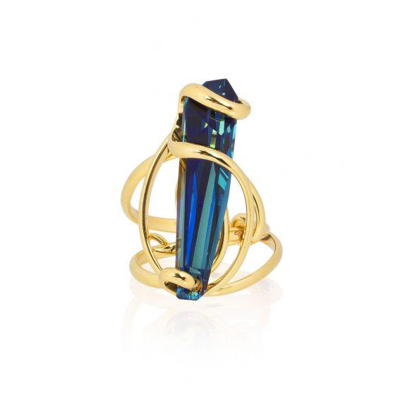 Andrea Marazzini bijoux - Bague cristal Swarovski Stalattite Bermuda Blue