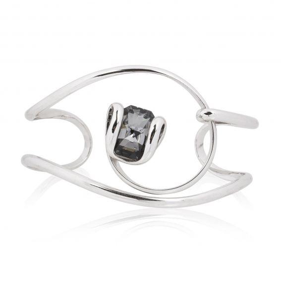 Bracelet cristal Swarovski Octagon Silver Night