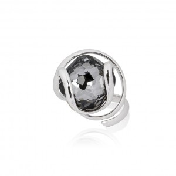 Moondust zwarte ring