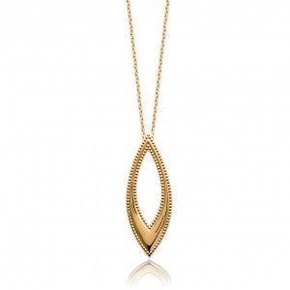 Golden sun disc necklace