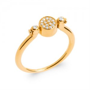 Bague pl-or 750 5mic nacre oz