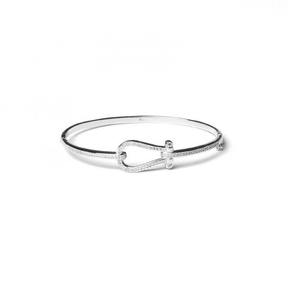 Bracelet esclave en argent 925 boucle et pierres