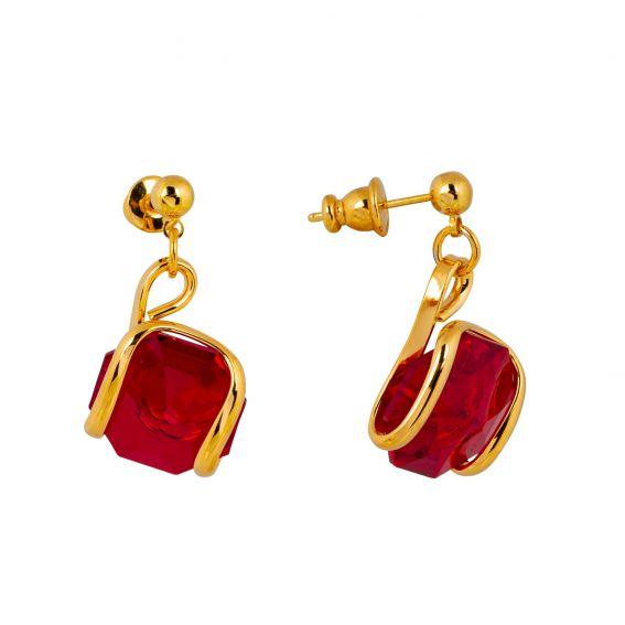 Swarovski blue crystal earrings