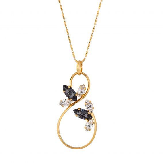 oval Swarovski mint crystal necklace