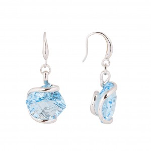 Swarovski blue crystal earrings