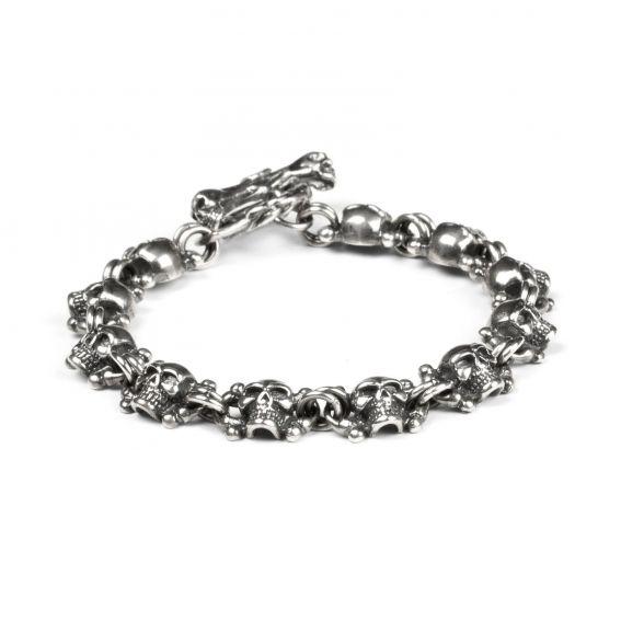 Bijoux bracelet têtes de mort - Bijoux homme