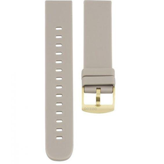 Bracelet montre connecté OOZOO caoutchouc taupe - 407.20 - Marque OOZOO