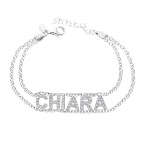 Silver name bracelet