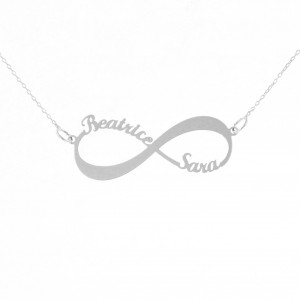 Name necklace with silver stone