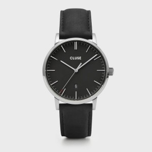 CLUSE Watch - Triomphe Steel White Pearl, Silver Color