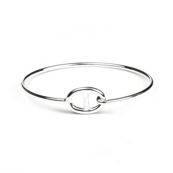 Bracelet en argent 925 esclave maille Hermès