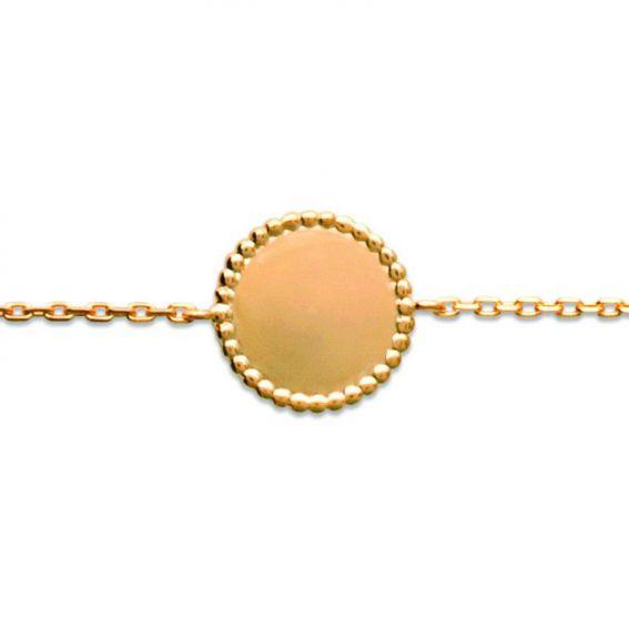 Bracelet pl-or 750 3mic